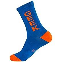 Gumball Poodle Geek Mens Blue Crew Socks
