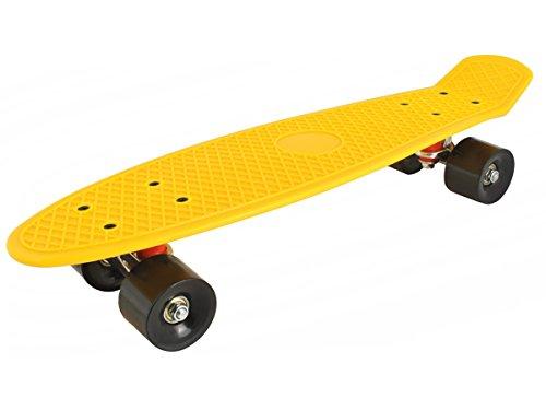 Longboard Retro Skateboard Skate Board mini Crusier ABEC-7 #3017, Farbe:Gelb