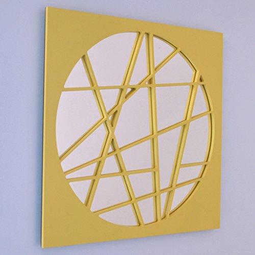 SHOP Miroir Mural carré - Zigzag Circulaire Grand - 80 x 80 cm - 8bc29e6f95eb
