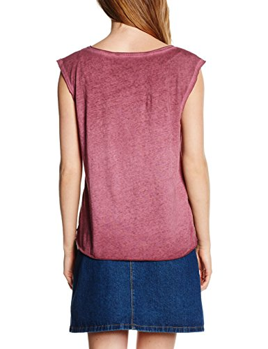 TOM TAILOR Denim Damen Top Loose Fitted Print Shirt Rot (tawny port red 4663)
