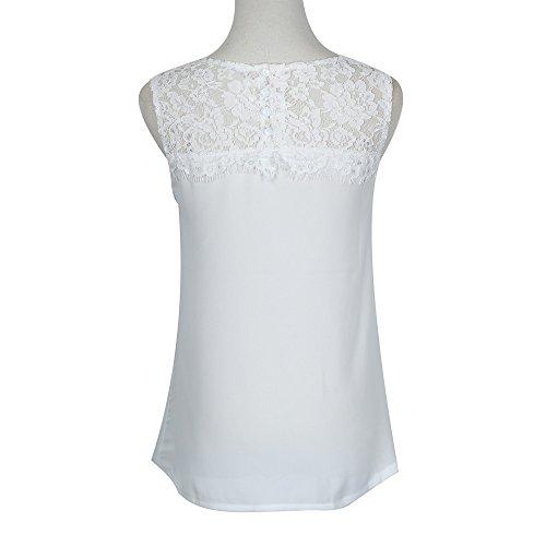PorLous T-Shirt, Frau 2019 Kurze Ärmel Mode Frauen Chiffon Spitze Ärmelloses Shirt Bluse Lässige Tank Tops Elegant Bequem Groß
