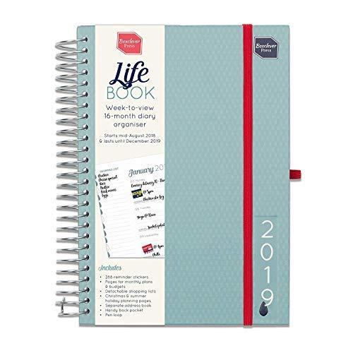 Boxclever Press 2019 Life Book. Agenda settimanale A5. Planner ideata per organizzare la vita delle persone o famiglie impegnate. Inizia ora e dura fino a Dicembre 2019. IN INGLESE