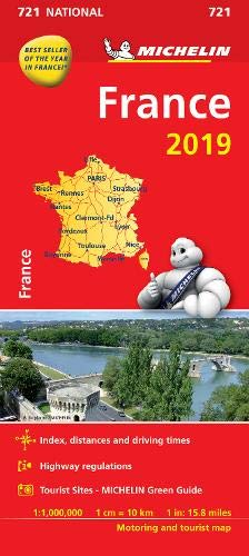 France 2019 - Michelin National Map 721 (Michelin National Maps) por Michelin