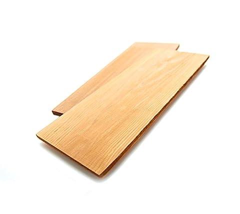 2 Stk. Zedernholzplanken, Räucherbretter, Grillbretter zum Grillen // BBQ Zedernbretter, Grillplanke und Zedernholzbrett // Cedar Grilling Plank