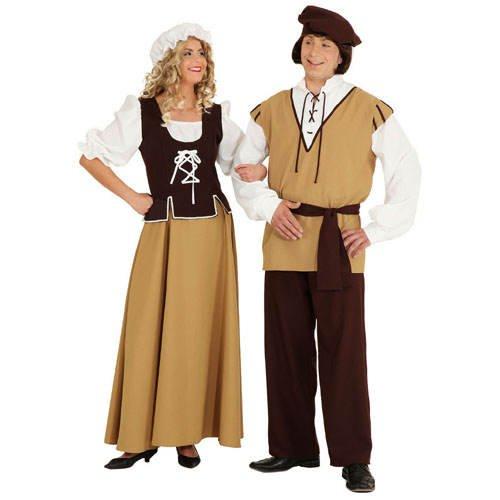 Bauer Erwachsene Kostüm Für Mittelalterliche - PARTY DISCOUNT Damen-Kostüm Mittelalter-Magd, Gr. 42 TOP-QUALITÄT