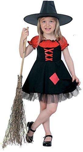 Hexe PB 1592 Halloween Kleid schwarz/rot Mädchen Kostüm Gr (Kostüm Teufel Baby Mädchen)