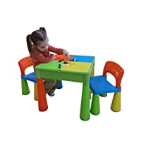 Liberty House Toys 5-in-1 Activity Table and Chairs with Writing Top/Sand/Water/Storage