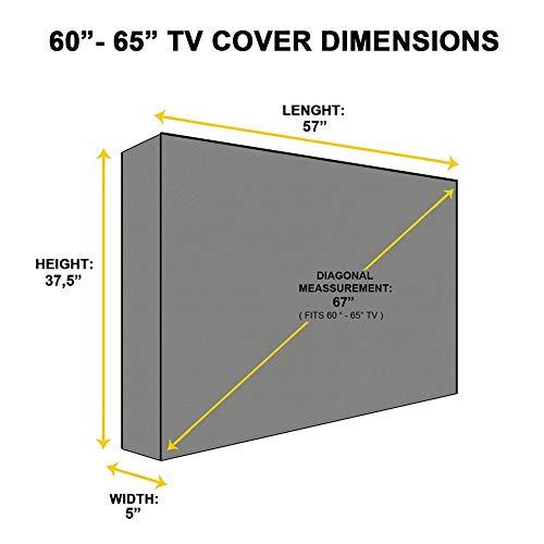 Coperture per mobili da Giardino Copertura TV Esterna per Montaggio A Parete Protezione Antipolvere Resistente alle Intemperie Televisore Universale Misure Multiple