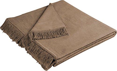 Biederlack Sofaläufer Baumwollmischung braun Größe 100x200 cm