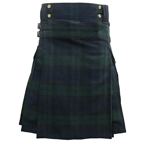 Tartanista - Cargo-Kilt Modern City mit Taschen - Black Watch 50