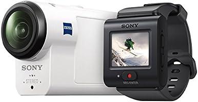 Sony HDR-AS300R Caméra d'action ultra-stabilisée  en résolution Full HD avec télécommande RM-LVR3 Live et Boss (Capteur CMOS Exmor R, Objectif ZEISS Tessar net , 170 Ultra Grand Angle, GPS, WiFi, NFC) Blanc