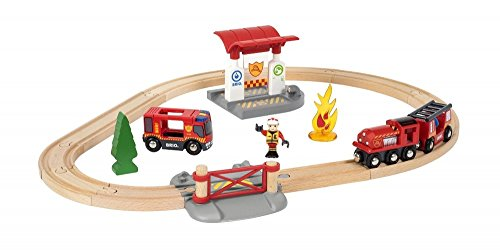 Preisvergleich Produktbild BRIO 33815 - Bahn Feuerwehr Set
