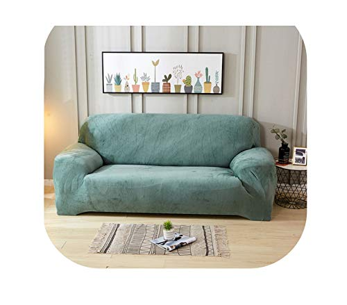 Fairy music Einfarbiger Plüsch Stretch Sectional Sofa Überzug All Inclusive Polyester Elastic Couch Cover Sofa Towel Sofa Kissen Schonbezüge, Color 4, 2 pcs Cushion Cover