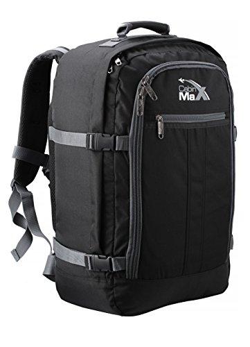 Cabin Max Metz Extra mochila equipaje de mano aprobado para vuelos 55x40x20cm (noir/gris)