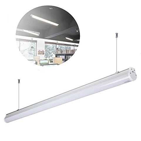 5 x Réglette LED Suspension Anten® 20W Tube Néon LED 60cm Fluorescent LED Lumière Blanc Chaud 2800-3200K SMD 2835 Economie d