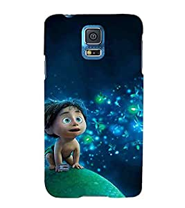 For Samsung Galaxy S5 :: Samsung Galaxy S5 G900I :: Samsung Galaxy S5 G900A G900F G900I G900M G900T G900W8 G900K Cartoon, Grey, Cartoon and Animation, Cute baby, Printed Designer Back Case Cover By CHAPLOOS