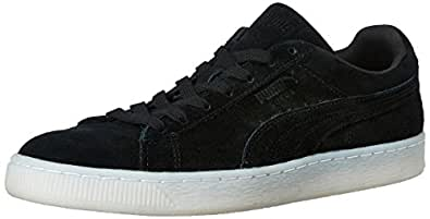 Puma Men's SuedeClassicColored Black and Peacoat Leather Sneakers - 6 UK/India (39 EU)