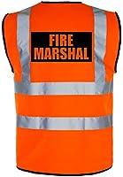 FIRE MARSHAL Hi-Vis High-Viz Visibility Safety Vest/Waistcoat | Yellow/Orange