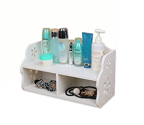 Simple cosmétiques/maquillage Oragnizer/case toilettes table de rangement conteneur blanc
