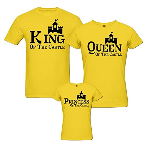pepperClub Castle Family Tshirt - Set of 3 for Mom Dad and Daughter