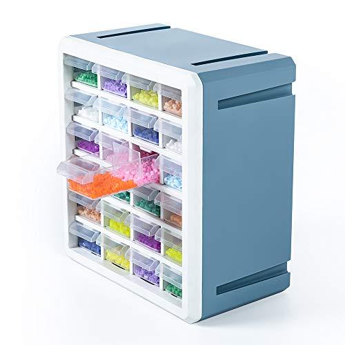 Baina Sortierbox Baby Bügelperlen Bausteine Kleinteile Aufbewahrungsbox mit 24 Schubladen, Großes...
