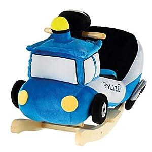 BIECO 74000221 - Balancín de Peluche para niños (Estructura de Madera, cinturón de Seguridad y Respaldo, a Partir de 9 Meses), Color Azul