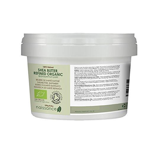 Naissance Burro di Karitè Raffinato Certificato Biologico Naturale al 100% - 250g