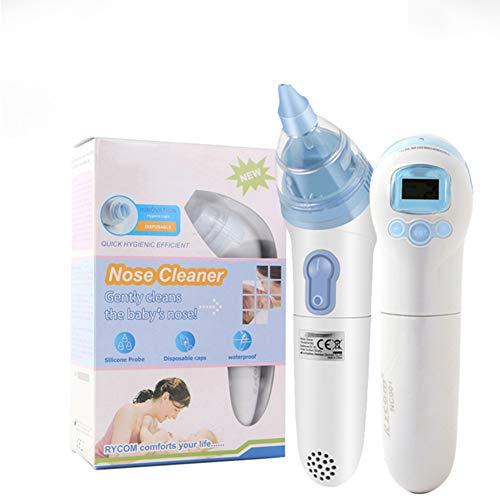 FMXYMC Elektro-Baby-Nasensauger Rotz Sucker Nasenreiniger mit 3 Saugstufen Spülspritze Mucus Booger Staubsauger