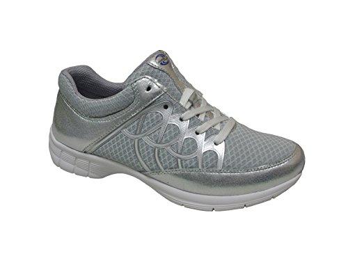 Donne Sneaker Gabor Sport 64.350.43 grigio / ghiaccio / argento , Damen Größen:40.5;Farben:grau