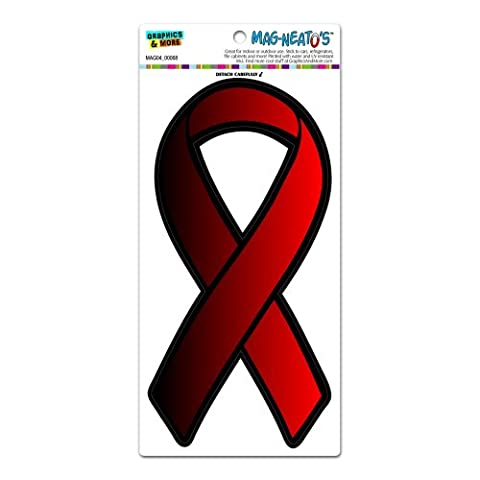 Red Awareness Support Ribbon - AIDS HIV MAG-NEATO'S(TM) Automotive Car