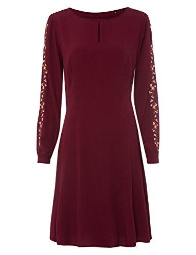 zero Damen Kleid mit floraler Stickerei 313717 Brick Red