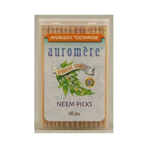 auromere-ayurvedic-neem-picks-100-toothpicks-12-pack