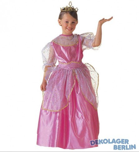 Widmann wid38636-Kostüm für Kinder Beauty Queen, Pink, 128cm/5-7Jahre