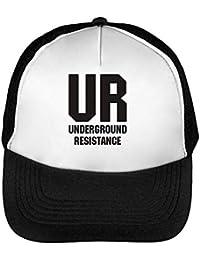 UR Underground Resistance Gorras Hombre Snapback Beisbol Negro Blanco cb78c157901