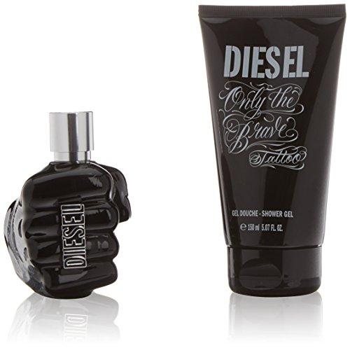 Diesel Only The Brave Tattoo, Set Acqua di Colonia 75 ml e Gel da doccia 150 ml