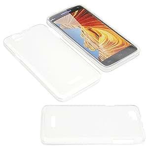 Tasche für Wiko Rainbow Gummi TPU Schutz Handytasche milchig transparent