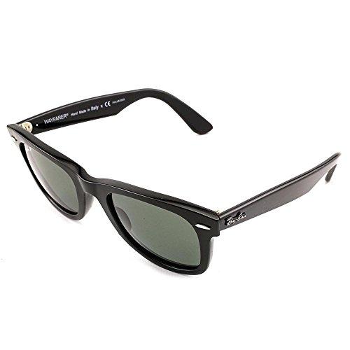 Black Frame/Green Polarized Lens , Grey G-15XLT : Ray-Ban RB2140 Wayfarer Floral Sunglasses image