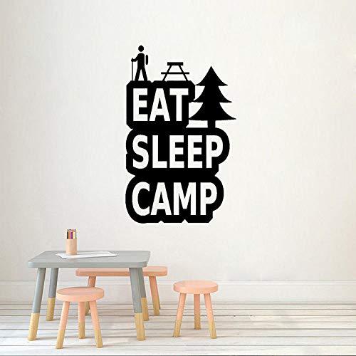 WandaufkleberCamping Aufkleber Eat Sleep Camp Abenteuer Art Decor Pvc Wandaufkleber 47,6 Cm * 76,2 Cm