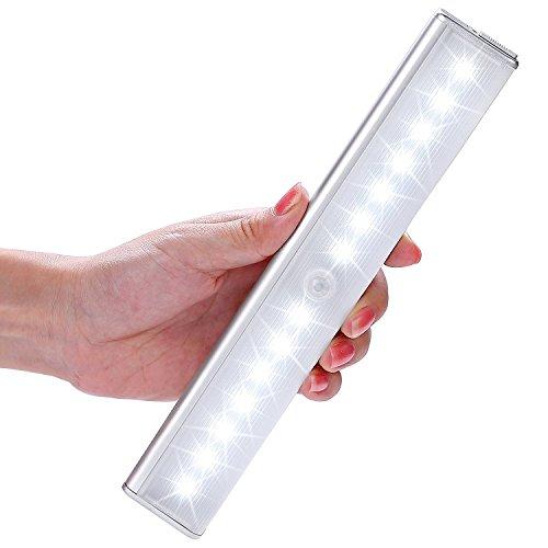 004-licht (14LED – Lichtleiste, LOFTer 4 Licht Modus,mittels USB Kabel geladen werden, mit einem Magnetstreifen installieren, Nachtlichter mit Bewegungsmelder, automatischer Schranklicht (14LED))