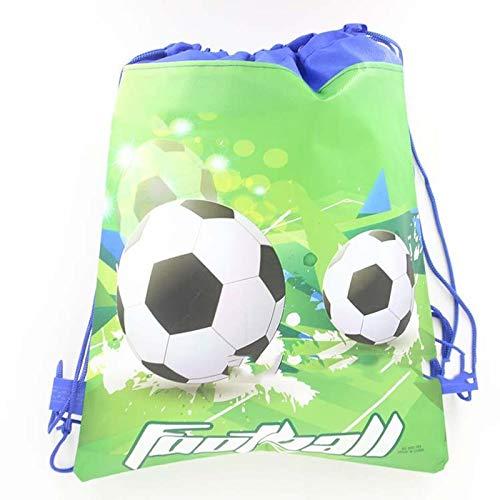 SMHILY 1pc / Lot 27x34cm Fußball-Art-Kind-Jungen-nichtgewebter Gewebe-Rucksack bevorzugt Drawstring-Fußball-Geschenk-Beutel-Geburtstagsfeier-Dekoration