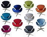 ElleDesign Sessel Swan Chair Arne Jacobsen Lana Cashmere drehbare Farben zur Auswahl Replica