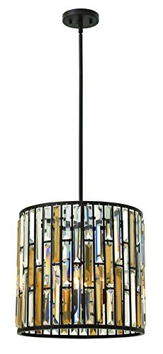 Fredrick Ramond FR33734VBZ Three Light Vintage Bronze Foyer Hall Pendant by Hinkley -