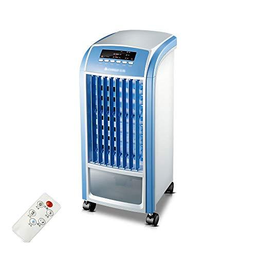 WDC Petit climatiseur mobile refroidi à l'eau de fan d'air de ménage avec à télécommande, 360m3 / H, 80W, 4L, bruit moins que 64A, 255x590mm A++