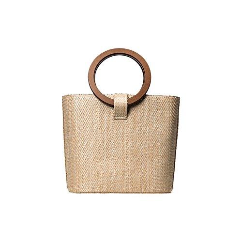 borsa da spiaggia Ratàn in paglia, borsa A MANO in paglia Rétro da spiaggia, grande borsa a mano ratàn cesta per fiori, borsa grande da donna.