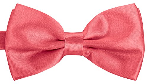 BomGuard Fliege für Herren lachs I Männer Fliege für Hochzeit, Party oder edele Anlässe I Trendy Bow Tie I Herrenfliege -