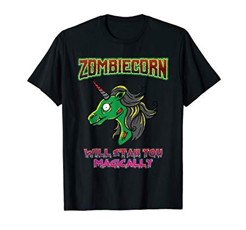 Zombie Kostüm Einhorn - Zombiecorn Zombie Unicorn Böses Einhorn Halloween Kostüm T-Shirt