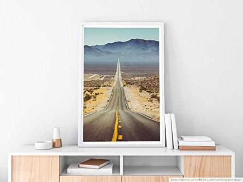Landschaft Natur – Route 66 im Sommer- Poster Fotodruck in höchster Qualität (Sommer-poster)