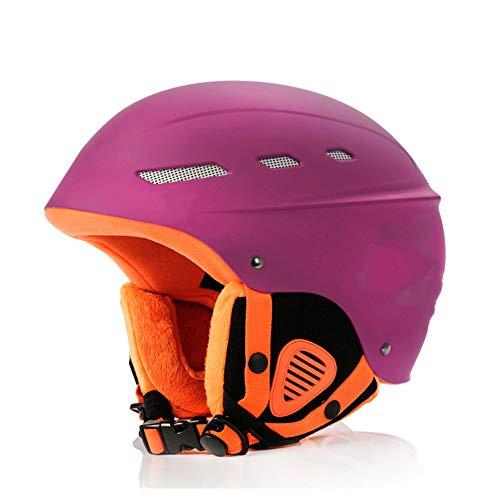 Boayiter Halten Sie Warm Skihelm Dämpfung Sport Sicherheit Leichtgewicht Schnee Skaten Schutzhelm -lila L