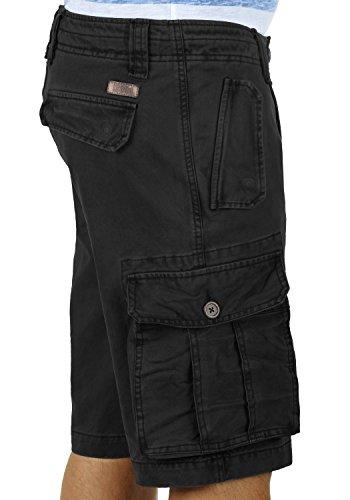 SOLID Pombal Cargo-Shorts kurze Hose mit Taschen aus 100% Baumwolle Black (9000)