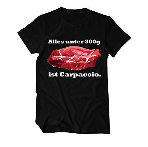 Steakfreunde Alles unter 300g ist Carpaccio Fun T-Shirt Herren Schwarz
